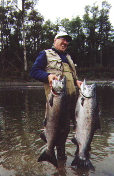 Dave with two 40 pound plus kings.